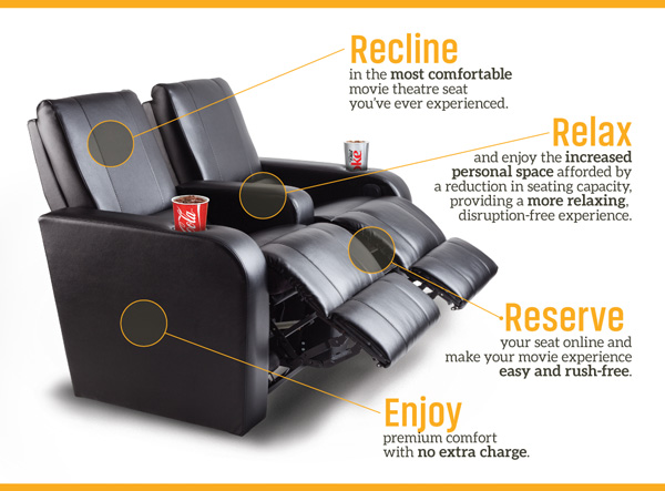 all these great new features at No Extra Charge. & Recliner Seats | Landmark Cinemas
