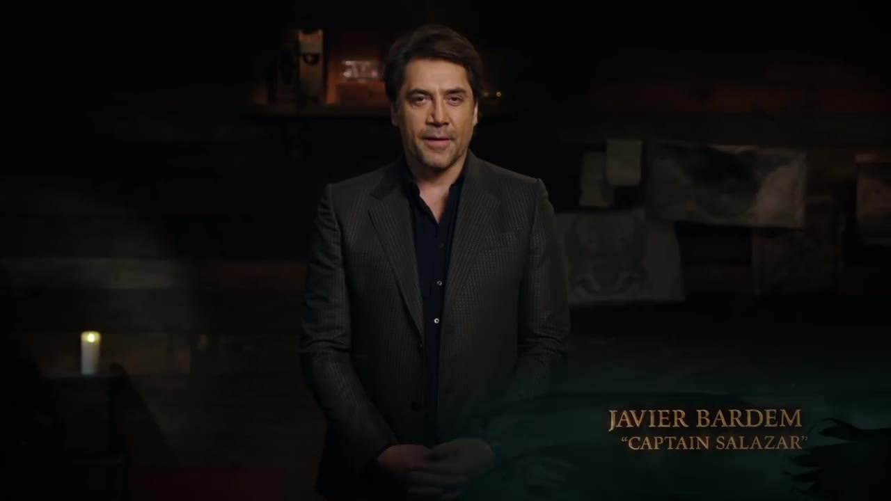 watch Pirates Of The Caribbean: Dead Men Tell No Tales IMAX Javier Bardem Greeting
