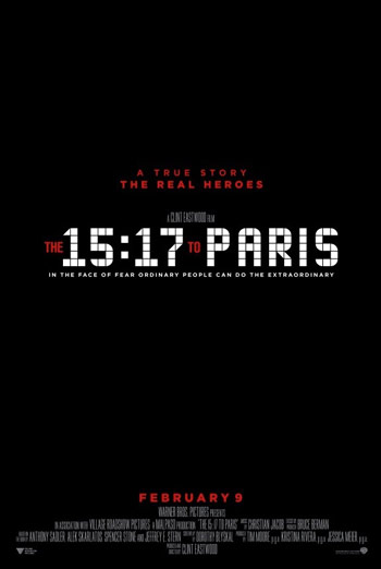 The 15:17 To Paris Trailer movie poster