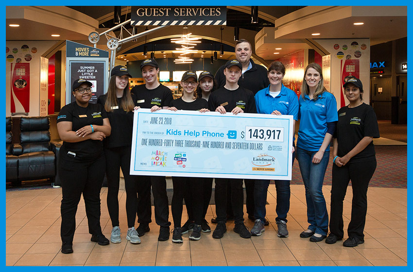 Cheque Presentation to Kids Help Phone