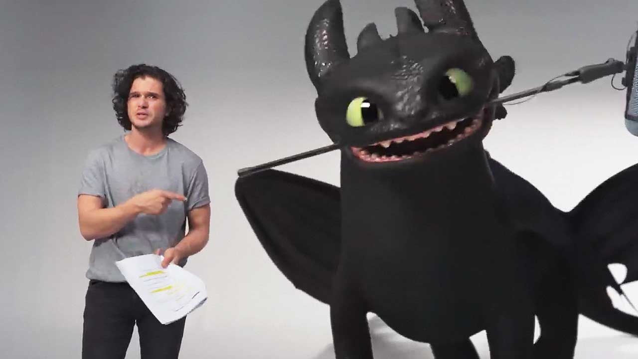 watch How To Train Your Dragon: The Hidden World - Kit Harington Auditions with Toothless