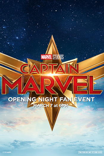 Captain Marvel Opening Night Fan Event