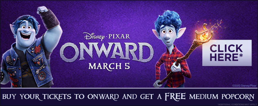 Disney and Pixar's Onward Free Popcorn Offer image