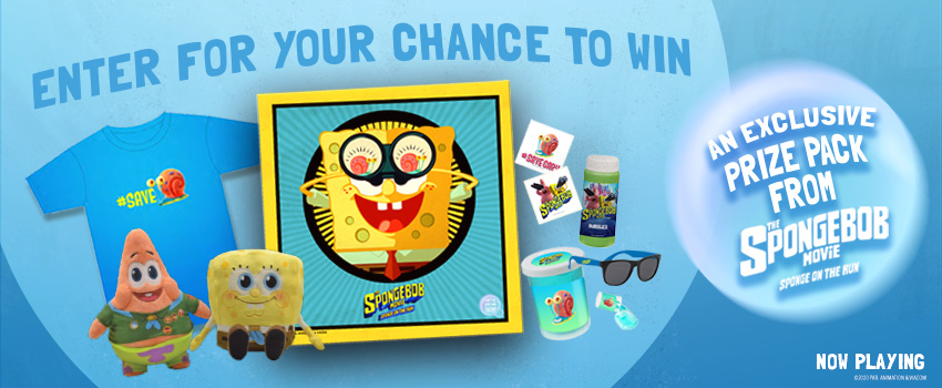 The Spongebob Movie: Sponge on the Run Prize Pack Contest image